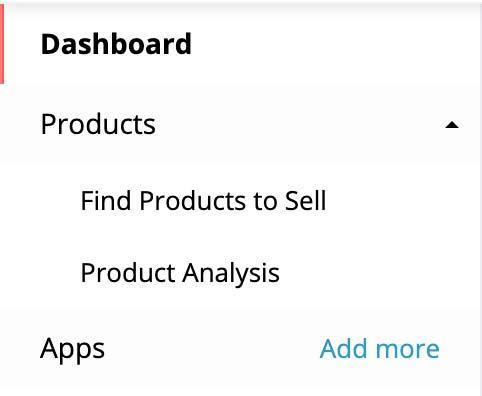De twee tools die beschikbaar zijn op het aliexpress dropshipping center zijn 'find products to sell' en 'product analysis'