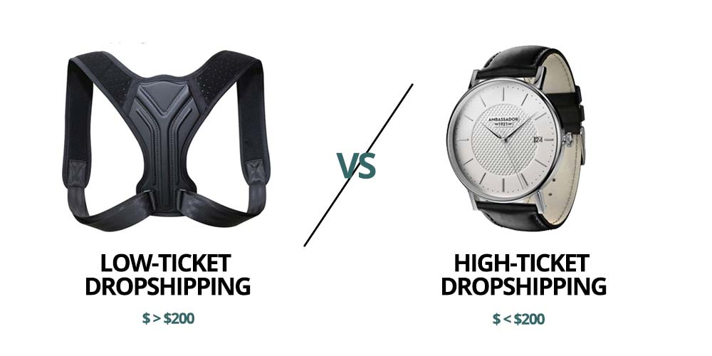 high ticket dropshipping vs low ticket dropshipping